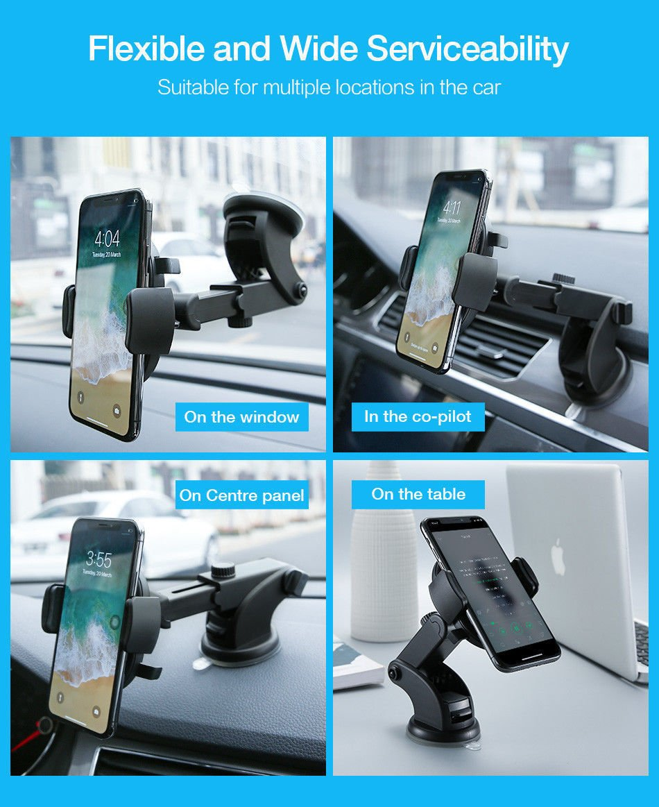 Amazon.com: Electrilucn Automatically Locking Windshield Phone Holder, Universal FIT: Electronics