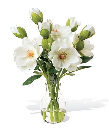 Amazon Magnolia Silk Flower Arrangement Home Kitchen