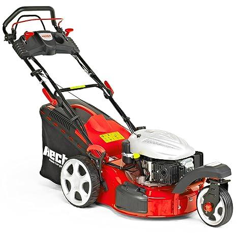 Cortacésped de gasolina 5483 SWE, de Hecht, cortacésped de 3 ruedas + función de inicio eléctrico, ...