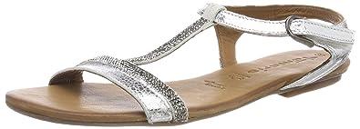 tamaris spangen sandalen silber