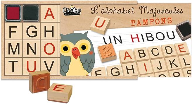 Créa Lign Cl80 Tampon à Imprimer L Alphabet Majuscule