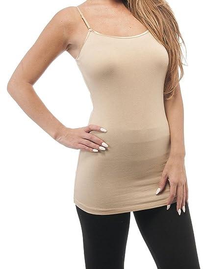 d392590deadba Active Cami Camisole Built in Shelf Bra Adjustable Spaghetti Strap Tank Top  at Amazon Women s Clothing store