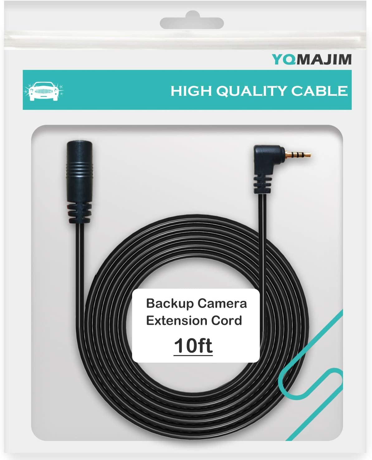 Dash Cam Rearview Backup Camera Extension Cord,2.5mm 4 Pin 6.5 Ft Male to Female Car Driving Recorder Reverse Camera Extension Cable by YQMAJIM