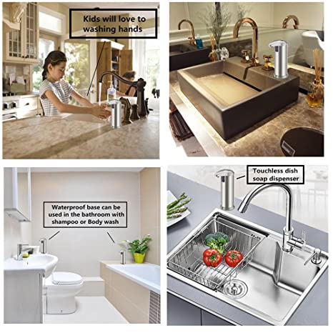 kitchen sink dispensers amazoncom automatic soap dispenser forworld kitchen touchless