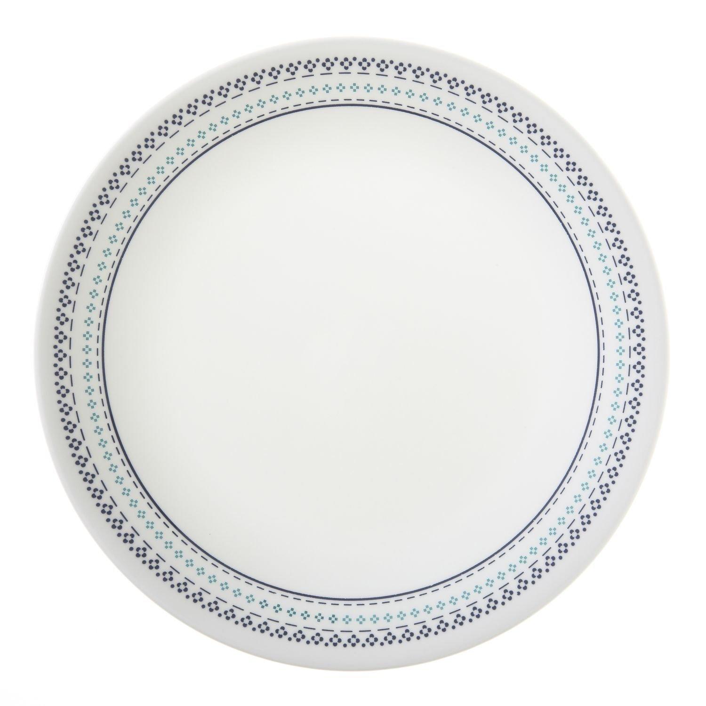 "Corelle Livingware Folk Stitch 8-1/2"" Lunch Plate (Set of 4)"