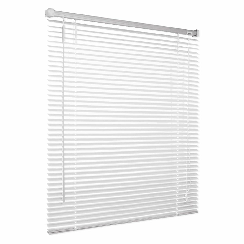 casa pura® Venetian Blind, Jalousie Vista - White (55 x 200 cm) | Fully Adjustable, 16 Sizes Available
