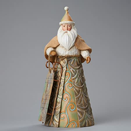 River s End Santa with Sled, Figurine