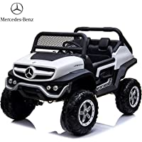 Dorsa Mercedes Benz 4x4 Off-Road Electric ATV Unimog Kids Ride On Car with Remote Control, 2 Seaters, 2 Motors…