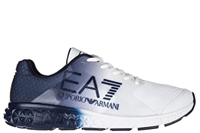 bda5e86e3fa72 Emporio Armani EA7 Herrenschuhe Herren Schuhe Sneakers spirit fading memory  foam Weiß EU 42 248020 7A268