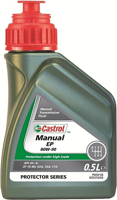 Castrol 21838 caja de cambios manual aceite EP 80 W-90, 500 ml: Amazon.es: Coche y moto