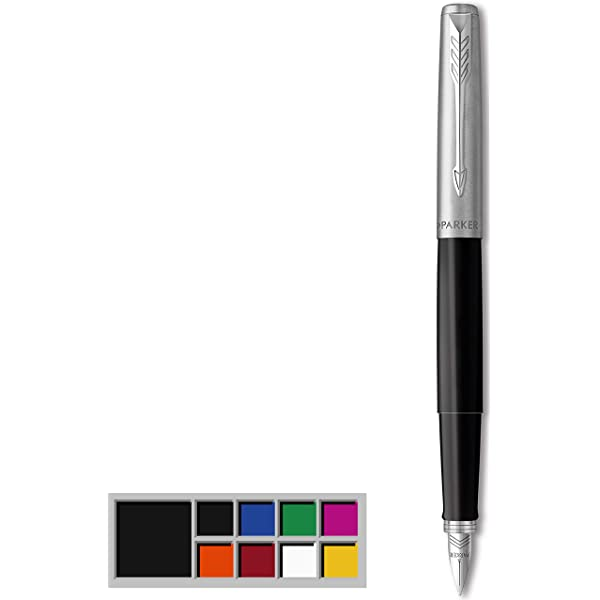 Medium Point 2030950 Royal Blue with Chrome Trim Parker Jotter Fountain Pen