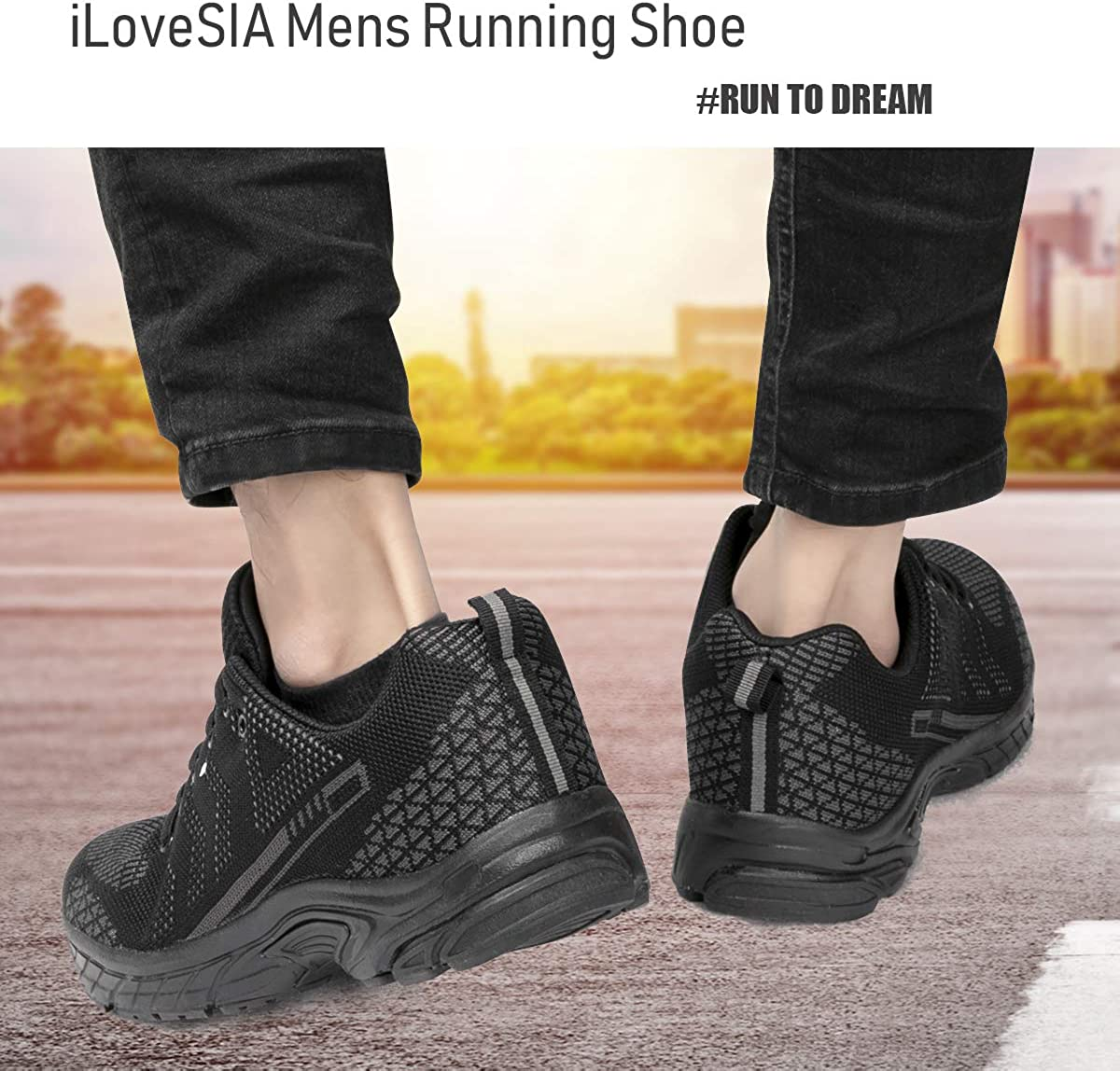 iloveSIA Mens Lightweight Leisure Outdoor Running and Walking Shoes FlyLeopard 2