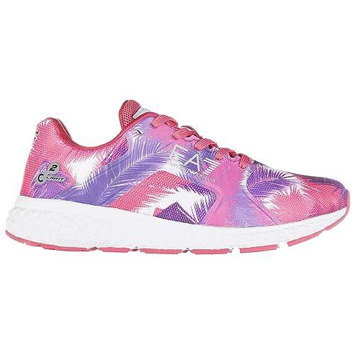 Emporio Armani EA7 Zapatillas Deportivas Mujer Palm Pink 37 1/3 EU: Amazon.es: Zapatos y complementos