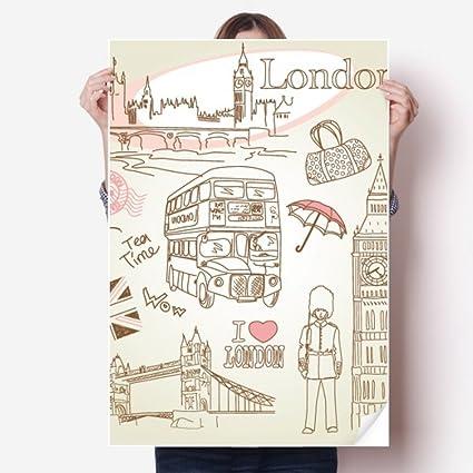 Amazoncom Diythinker I Love London Britain Big Ben Bus