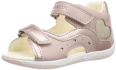 Geox sandali bambina bianco pricy rosa pelle