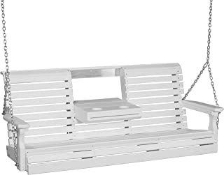 product image for Furniture Barn USA Outdoor 5 Foot Rollback Swing - White Poly Lumber - Recycled Plastic
