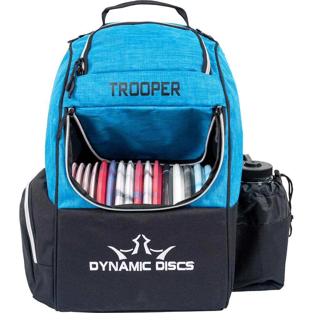 Dynamic Discs Trooper Disc Golf Backpack | Heather Blue | Frisbee Disc Golf Bag with 18+ Disc Capacity | Introductory Disc Golf Backpack | Lightweight and Durable by D·D DYNAMIC DISCS