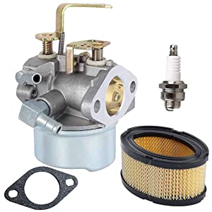 New 640152 Carburetor + 33268 Air Filter+ Spark Plug for Tecumseh 640152A 640023 640051 640140 640152 HM80 HM90 HM100 8-10 HP Engine Snow Blower Mower 5000w Generator