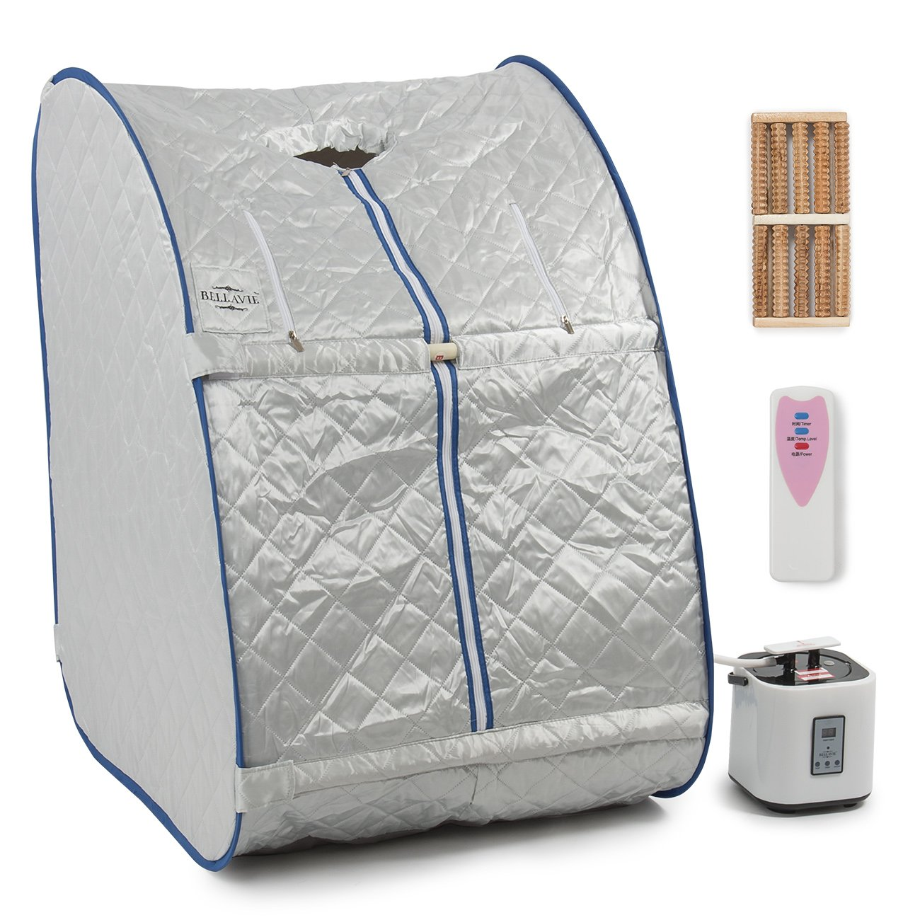 Amazon.com  Bellavie Portable Steam Sauna Pop-Up Foldable Therapeutic Personal Slimming Spa Home Indoor + Chair u0026 Remote  Garden u0026 Outdoor  sc 1 st  Amazon.com & Amazon.com : Bellavie Portable Steam Sauna Pop-Up Foldable ...