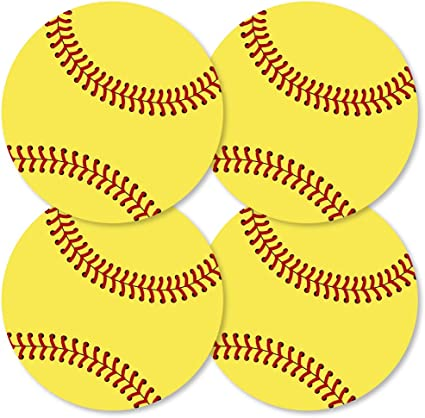 Grand Slam - Fastpitch Softball - Decorations DIY Baby Shower or Birthday  Party Essentials - Set of 5