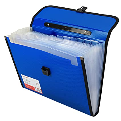 TRANBO Plastic File Folder wit...