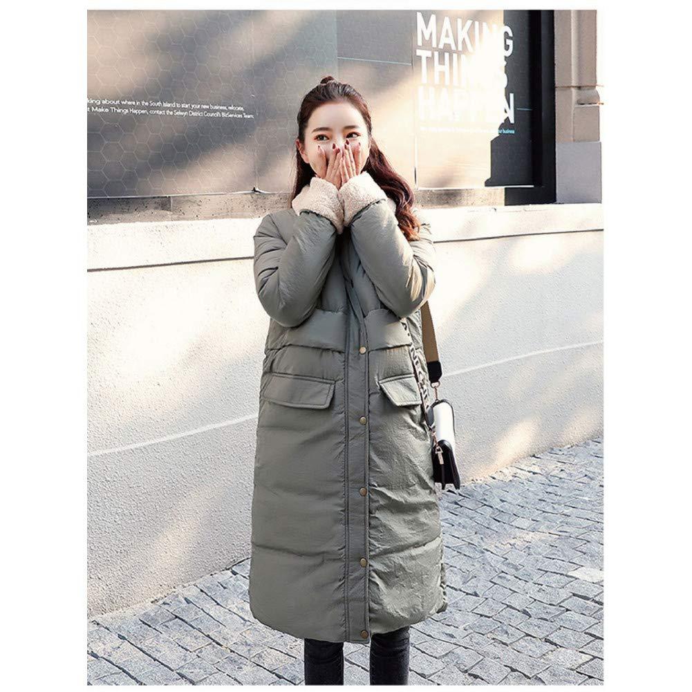 SHANGYI Veste Veste d'hiver Longue pour Femmes en Coton Épaissir Au Chaud Épaissir Ms. Jacket Gray