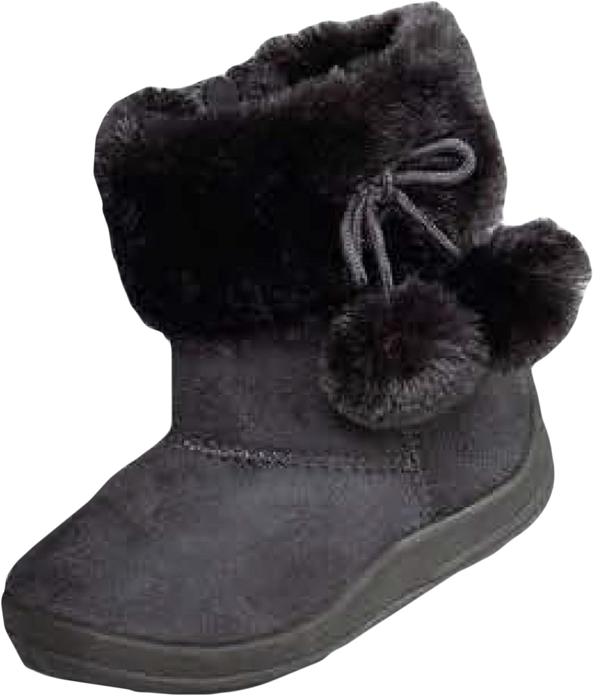 7 M US Toddler, Dark Grey Toddler//Little Kid Kali Basic Comf Boots