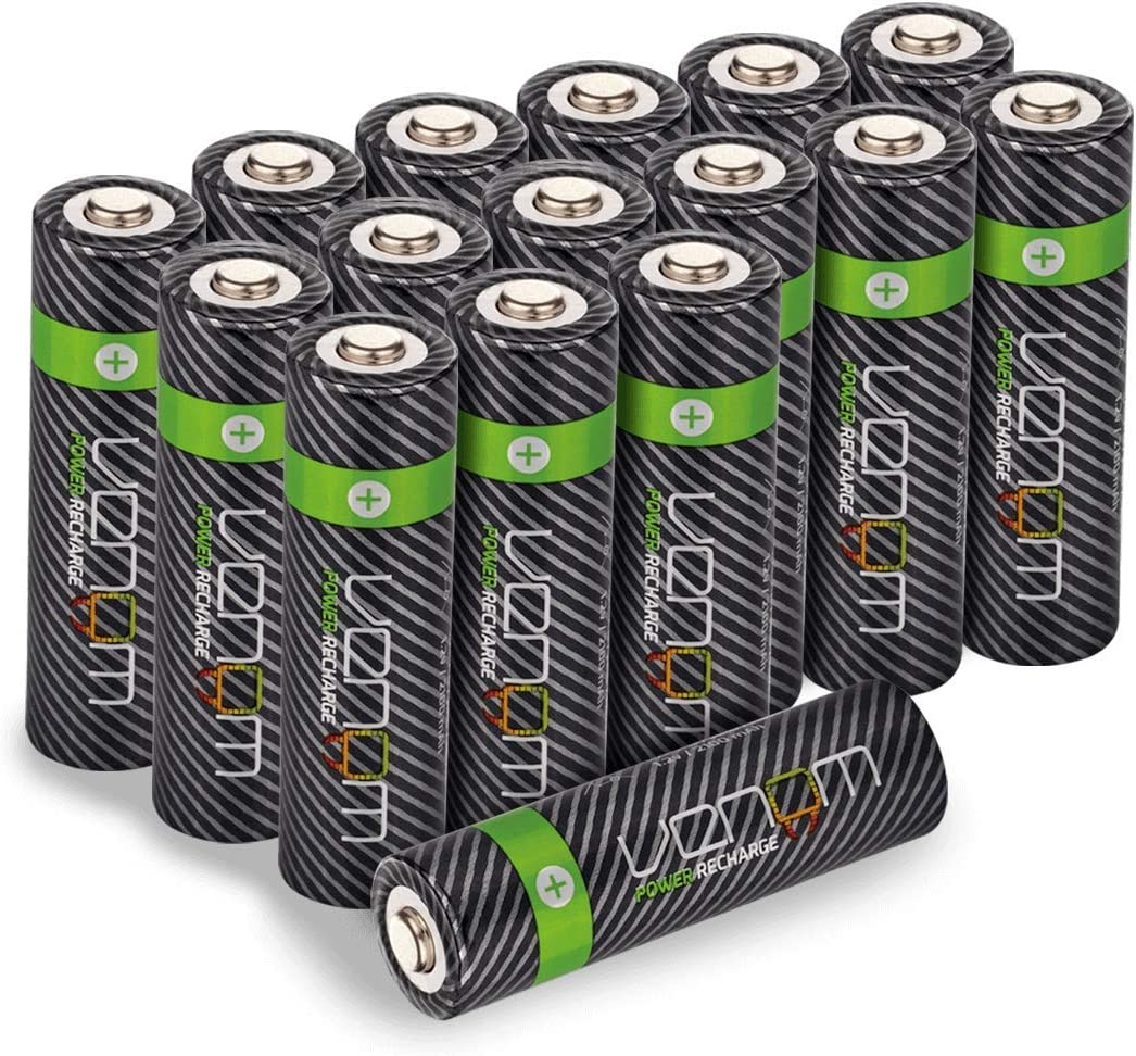 Venom Power Recharge 2100mAh High Capacity Rechargeable AA Batteries Pack of 4