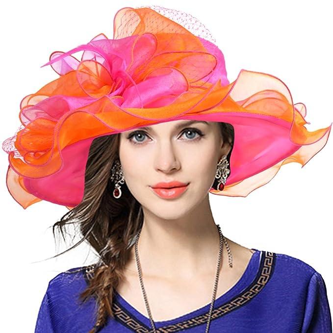 Sombrero estilo Derby para eventos nupciales.