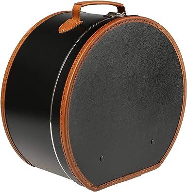 Lierys Sombrerera Redonda Negra 50 cm x 22 cm x 47 cm - Caja para Sombrero Grande