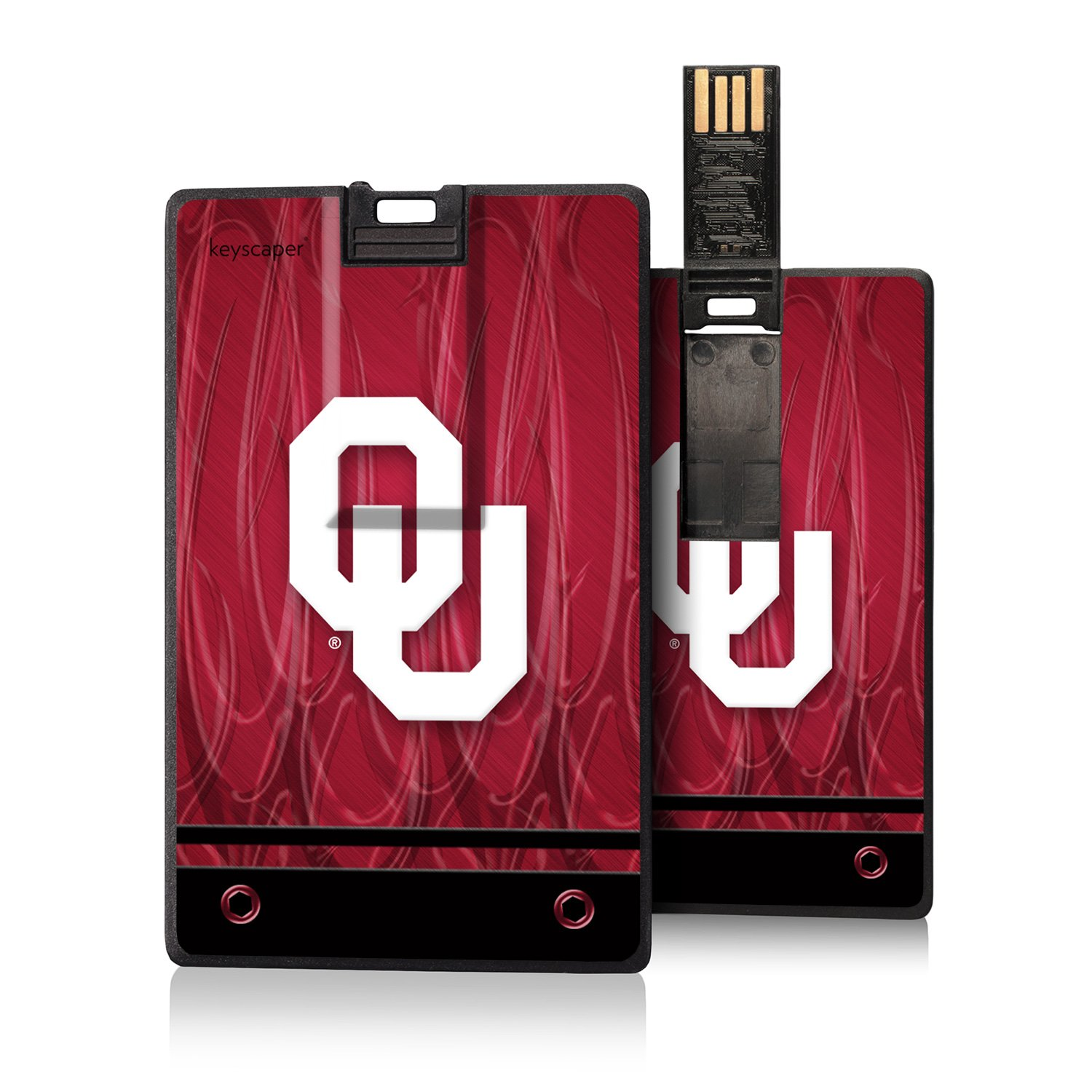 Oklahoma Sooners 8GB Credit Card Style USB Flash Drive NCAA by Keyscaper