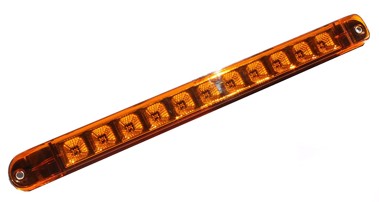 "+++ Bright Amber 17"" LED Truck Trailer Turn Tail Parking Clearance Marker Light Bar w Chrome Reflector Kai Tai Inc"