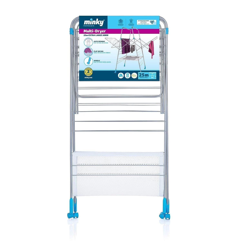 Minky Multi Dryer Indoor Drying Rack White 78 Feet Drying Space