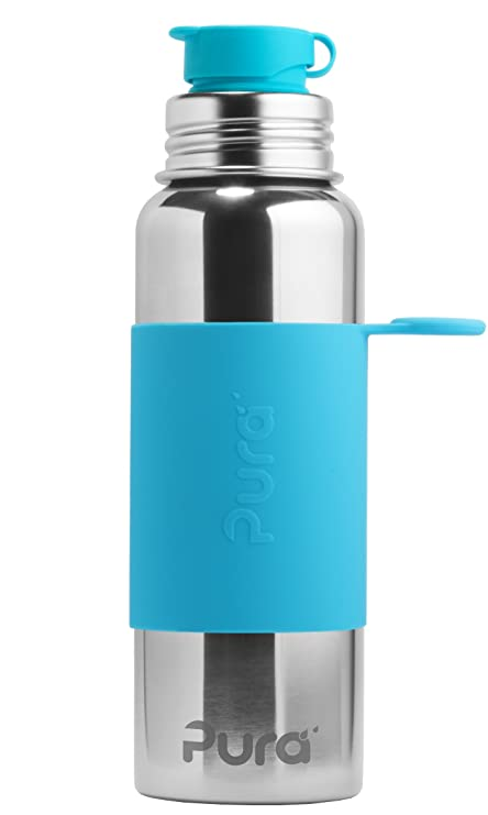 09aa6e4839b Pura Sport 28 OZ   850 ml Stainless Steel Water Bottle with Silicone Sport  Flip Cap