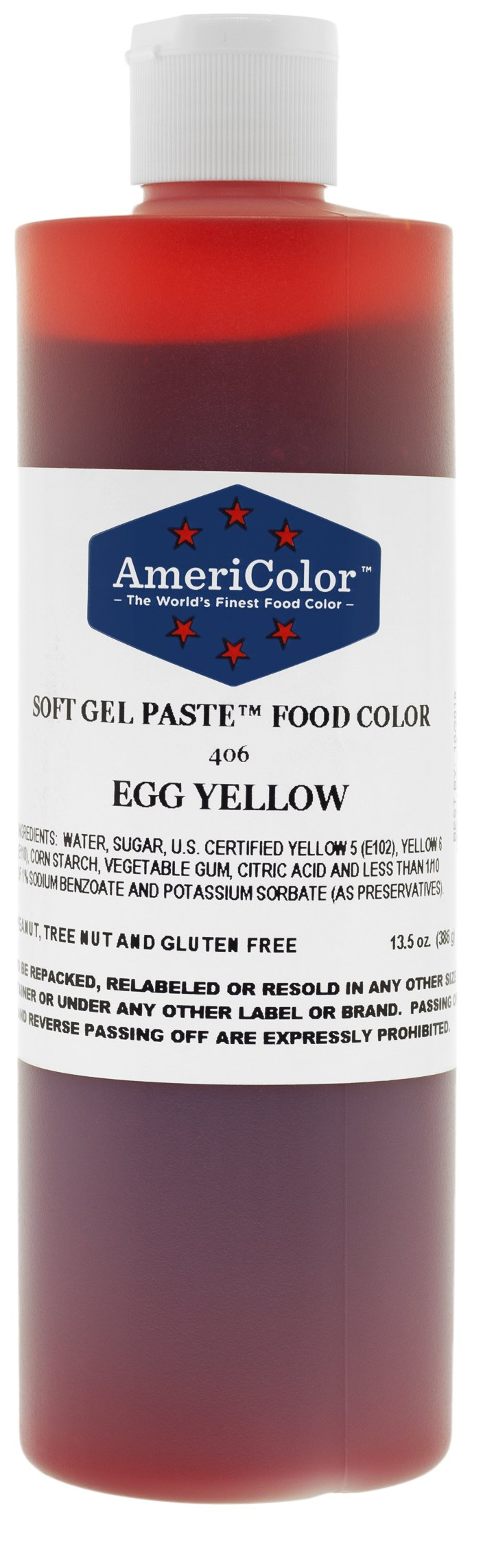 EGG YELLOW 13.5 Ounce Soft Gel Paste Food Color