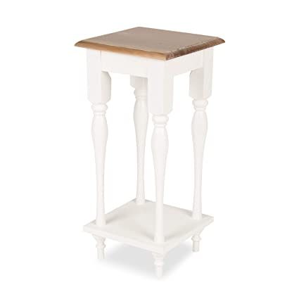 59bbdf8f9604 Amazon.com  Kate and Laurel Sophia Rustic Wood Top Plant Stand End Table  with Shelf