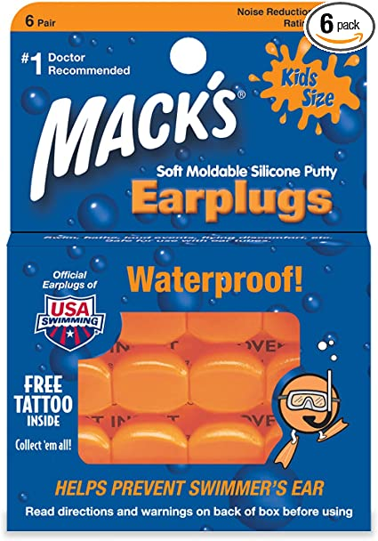 6 Pairs with Case Kids Soft Silicone Ear Plugs