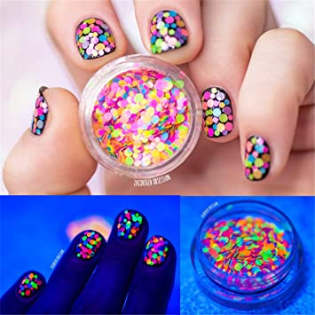 Amazon Nicole Diary 1mm 2mm Multicolor Nail Glitter Sugar