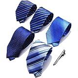 【5本セット】FTZero ネクタイ おしゃれ メンズ ビジネス用 洗えるネクタイ 【ネクタイピ付き・ギフト包装】