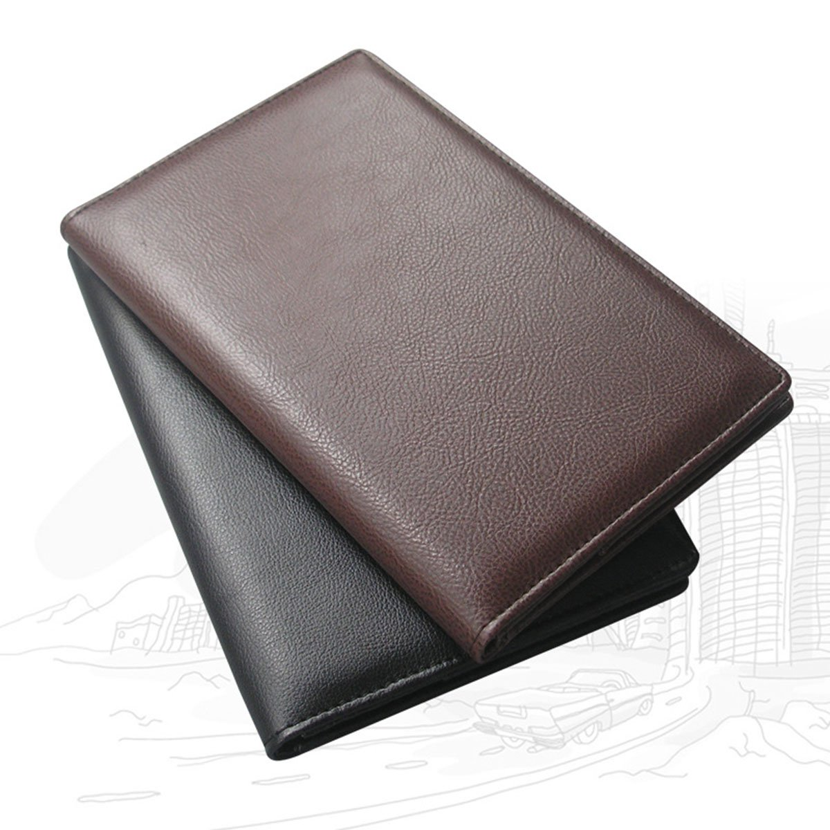 VORCOOL 1 Pcs Guest Check Book Holder Money Pocket, Waiter Book Server Wallet Restaurant Menu Covers Holders Fit Server Apron (A067 Black)