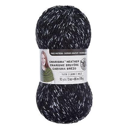 Amazon com: Loops & Threads Charisma Heather Yarn - Black
