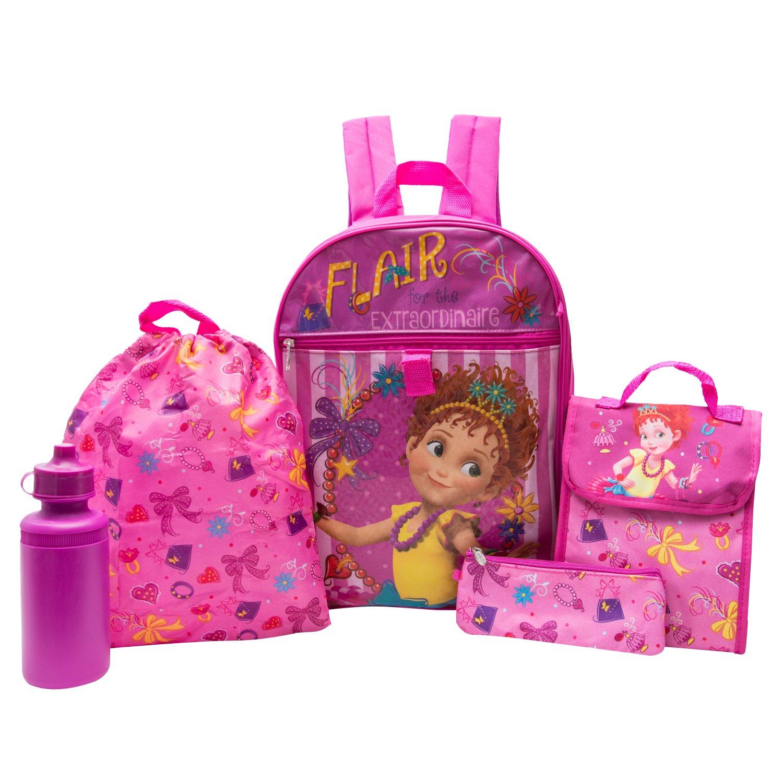 Fancy Nancy Backpack Combo Set - Fancy Nancy 5 Piece Backpack School Set