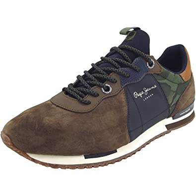 33638b2a251 Pepe Jeans Men's Tinker Racer Mix Trainers Brown: Amazon.co.uk: Shoes & Bags