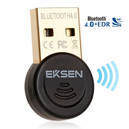 EKSEN Mini Bluetooth CSR 4.0 USB Dongle Adaptador, Bluetooth Transmisor y Receptor para Windows 10