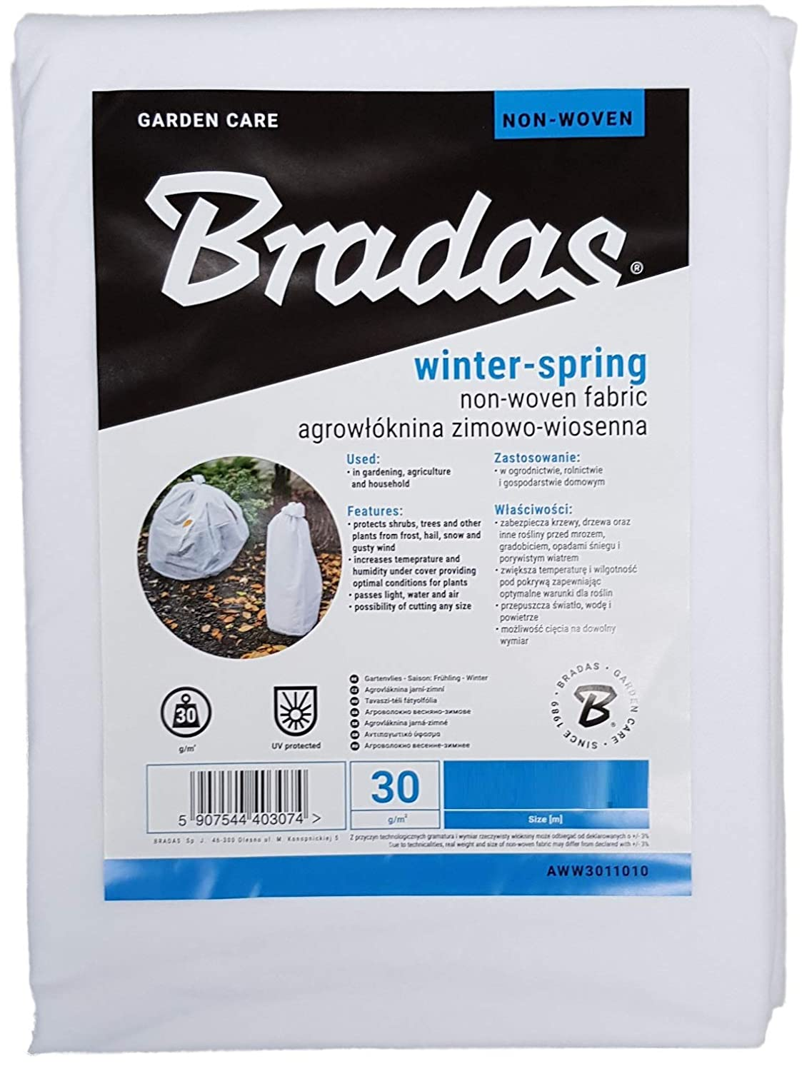 1, 1.1m x 5m Bradas Frost protection fleece,protect from wind,sun,pests and the cold
