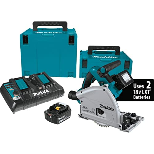 Makita XPS01PTJ 5.0Ah 18V X2 LXT Lithium-Ion 36V Brushless Cordless 6-1 2 Plunge Circular Saw Kit