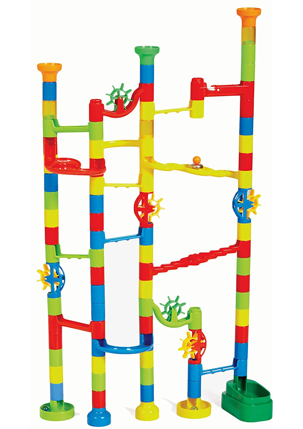 Edushape Marbulous Marble Run, 100 Piece Set, Multicolor