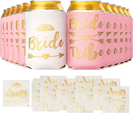 ***Team Bride Koozies**** Bachelorette,Color Pink****12 Count