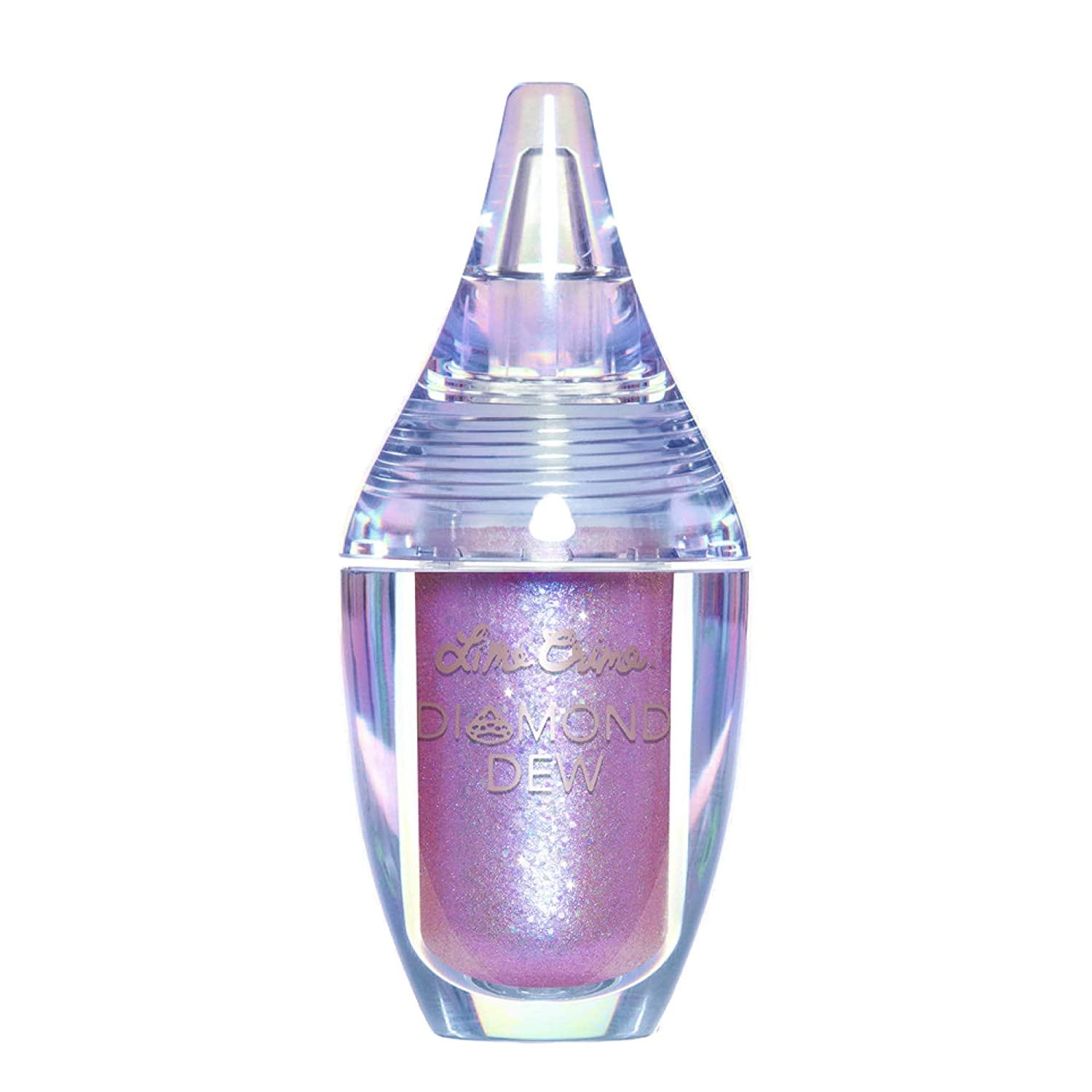 Lime Crime Diamond Dew Glitter Eyeshadow, Aurora - Iridescent Grey-Violet-Blue Aqua Lid Topper - Reflective Sparkle Shadow for Lids, Cheeks & Body - Won't Smudge or Crease - Vegan - 0.14 fl oz