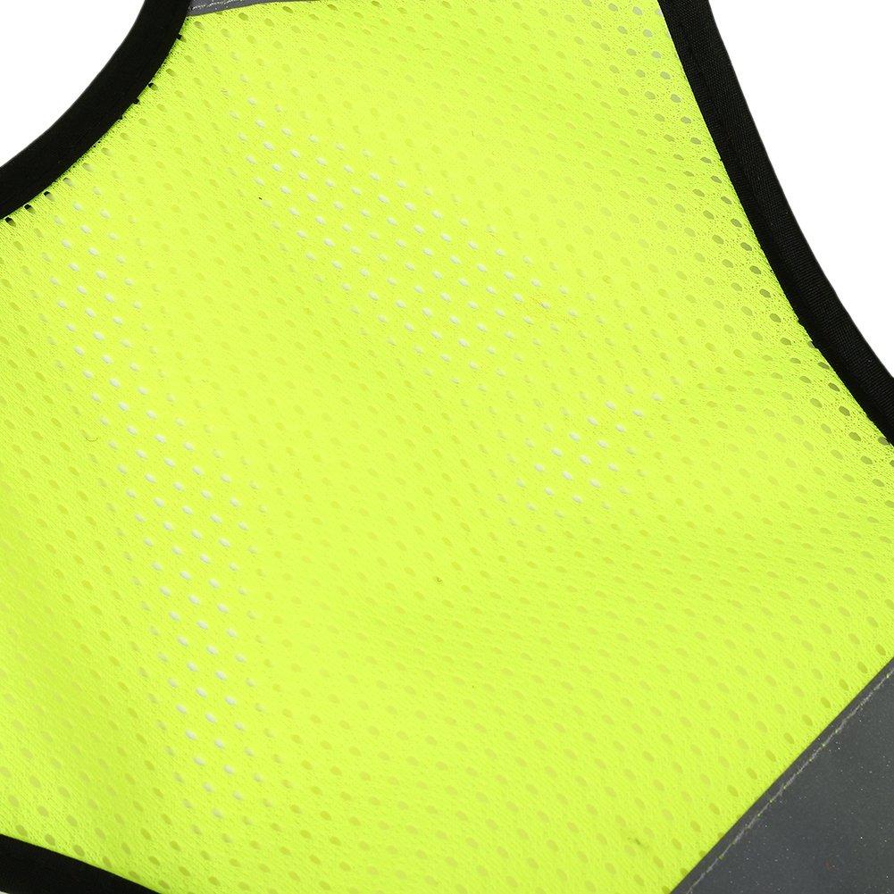Gilet Sicurezza con Strisce Riflettenti per attivit/à Notturne nel Traffico Passeggio e Lavoro Gilet Riflettente Alta visibilit/à Unisex Gilet Alta Visibilita Uomo Ciclismo Moto Corsa